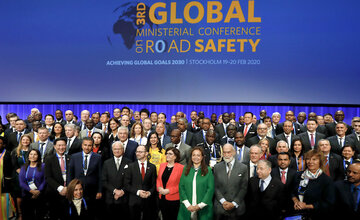 Global gathering of ministers determines road safety agenda to 2030