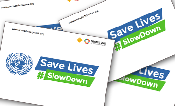 Get involved with Save Lives: #SlowDown - signboards!
